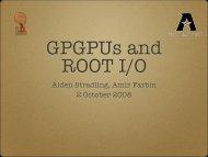 Alden Stradling, Amir Farbin 2 October 2008 - UTA HEP WWW ...