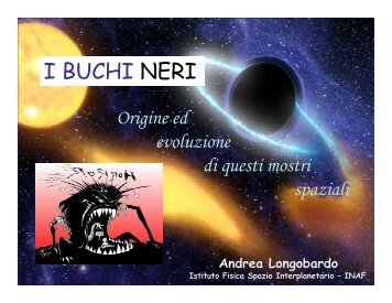 I BUCHI NERI - Infn