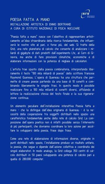 POESIA FATTA A MANO - Infn