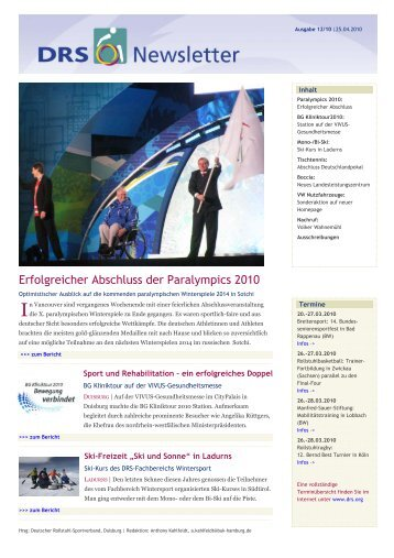 Erfolgreicher Abschluss der Paralympics 2010 - Frontcourt
