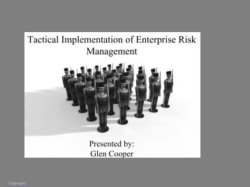 Tactical Implementation of Enterprise Risk ... - IIA Dallas Chapter