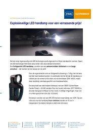 Explosieveilige LED handlamp voor een ... - Electromach BV