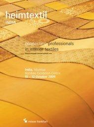 connecting professionals in interior textiles - Messe Frankfurt India