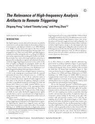 Peng et al. (SRL, 2011) - Geophysics at Georgia Tech - Georgia ...