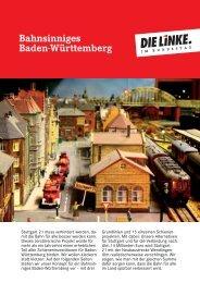Bahnsinniges Baden-Württemberg - Die Linke. im Bundestag