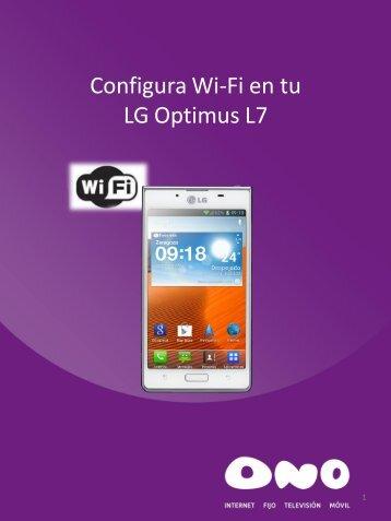 Configura WiFi en tu LG L7 - Ono