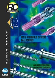 VITI A RICIRCOLO DI SFERE BALLSCREWS - Korta S.A.
