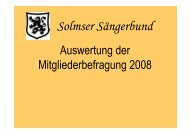 Teil I: Beziehung der Mitgliedsvereine zum SSB - Solmser ...