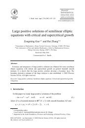 Large positive solutions of semilinear elliptic equations with critical ...