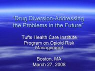 H/R Presentation for Non-H/P - Tufts Health Care Institute
