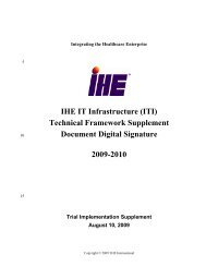 Document Digital Signature - IHE