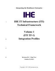 IHE IT Infrastructure (ITI) Technical Framework Volume 1 (ITI TF-1 ...