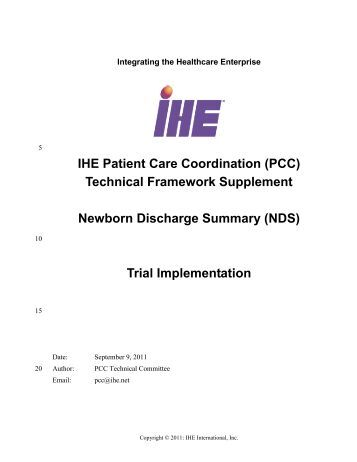 Newborn Discharge Summary - IHE