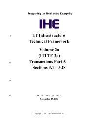 IT Infrastructure Technical Framework Volume 2a (ITI TF-2a ... - IHE