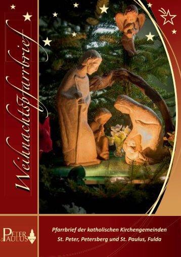 Pfarrbrief Weihnachten 2014 - St. Paulus