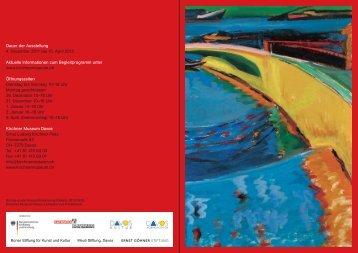 Dauer der Ausstellung 4. Dezember 2011 bis 15. April 2012 Aktuelle ...
