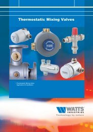 Thermostatic Mixing Valves - Watts Industries