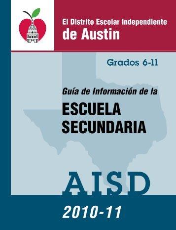 ESCUELA SECUNDARIA 2010-11 - Austin ISD