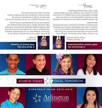 aisd strategic plan brochure - Arlington Independent School District