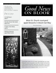 Bloor St. Church courtyard - Bloor Street United Church