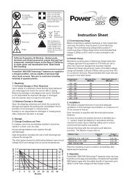 Instruction Sheet - Enersys - EMEA