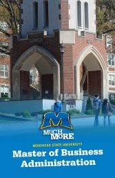 MBA Brochure - Morehead State University