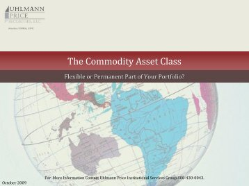 The Commodity Asset Class - Interconti, Limited