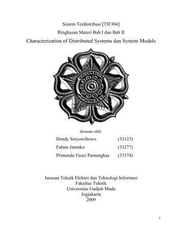 resume 1 n 2 - Teknik Elektro UGM - Universitas Gadjah Mada
