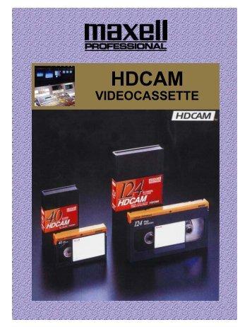 hdcam - Maxell Canada