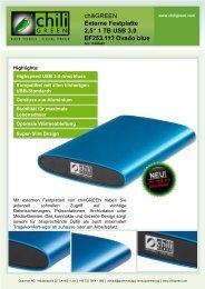 Externe Festplatte 2,5'' 1 TB USB 3.0 EF253.112 Ovado ... - Chiligreen
