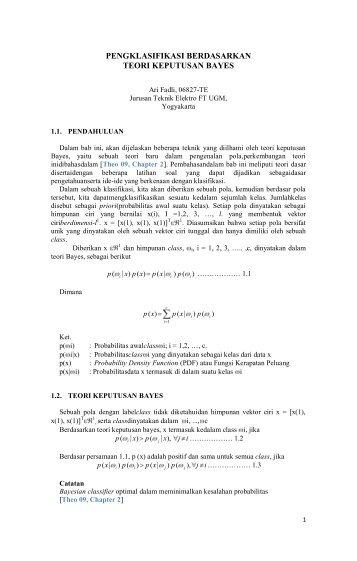 bab-i_bayes - Teknik Elektro UGM