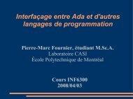 Interfacage avec d'autres langages (C,C++, Java) - Cours - École ...