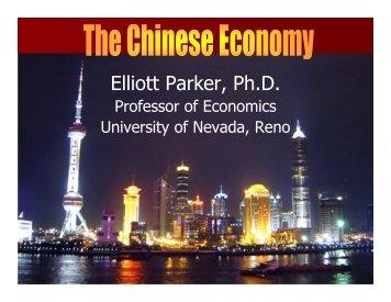 China's Economy - University of Nevada, Reno