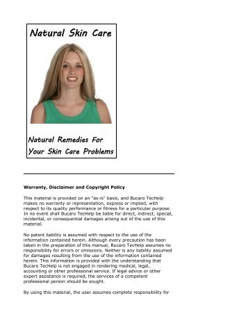 Natural Skin Care - Natural Remedies For Your ... - Bucaro TecHelp