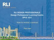 DPLE 103 — How to Review a Contact – Part Two - RLI Design ...