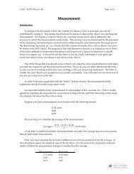 LAB 1 - Measurement - WebPhysics - IUPUI