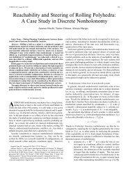 Reachability and Steering of Rolling Polyhedra ... - Centro E Piaggio