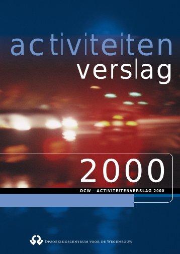 ACTIVITEITENVERSLAG 2000 - CRR