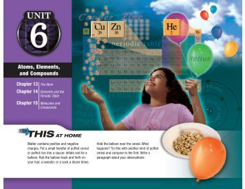 Atoms, Elements, and Compounds - Spokane Public Schools