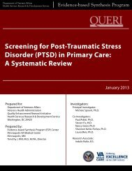 Screening for Post-Traumatic Stress Disorder (PTSD) in Primary ...