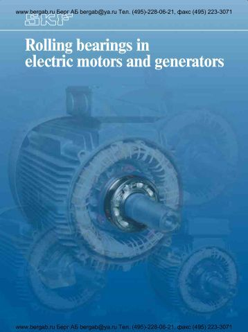 Rolling bearings in electric motors and generators