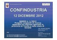 BANDO ISRAELE Gilli-Michelini APIAE.pdf - Confindustria Trento