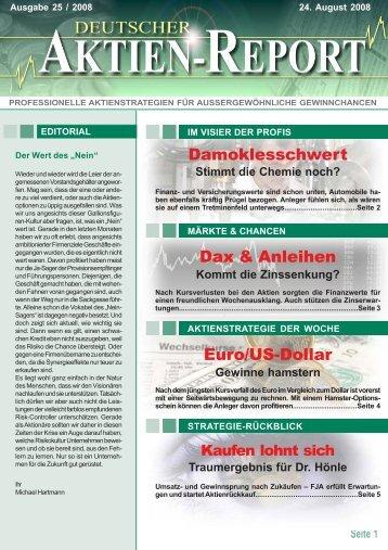 Dax & Anleihen - Deutscher Aktien-Report