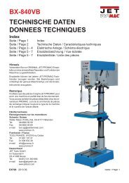 TECHNISCHE DATEN DONNEES TECHNIQUES BX-840VB - Promac