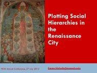 Plotting Social Hierarchies in the Renaissance - HTAV