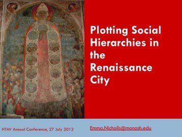 Plotting Social Hierarchies in the Renaissance - HTAV