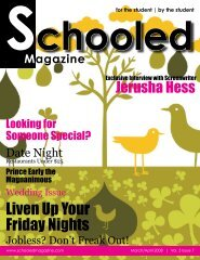 Liven Up Your Friday Nights - Schooled Magazine