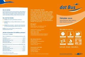 Fahrplan 2010 - Veolia Transport