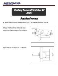 Bushing Removal Bushing Removal/Installer Kit 32101 - Jegs