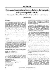 Opinión Consideraciones sobre el consentimiento del ... - SciELO